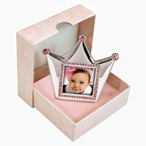Pink Royalty Silver Photo Frame