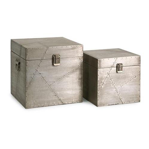 Jensen Aluminum Clad Boxes - Set o 2