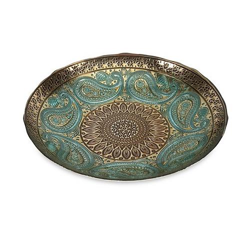 Paisley Glass Plate