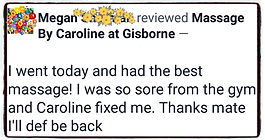 Review of Massage By Caroline