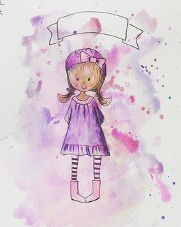 Little girl - gift illustration