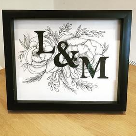 Anniversery gift frame