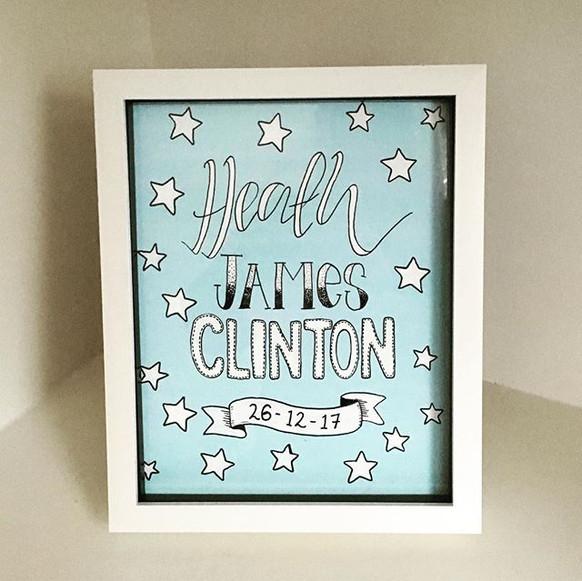Baby boy gift frame