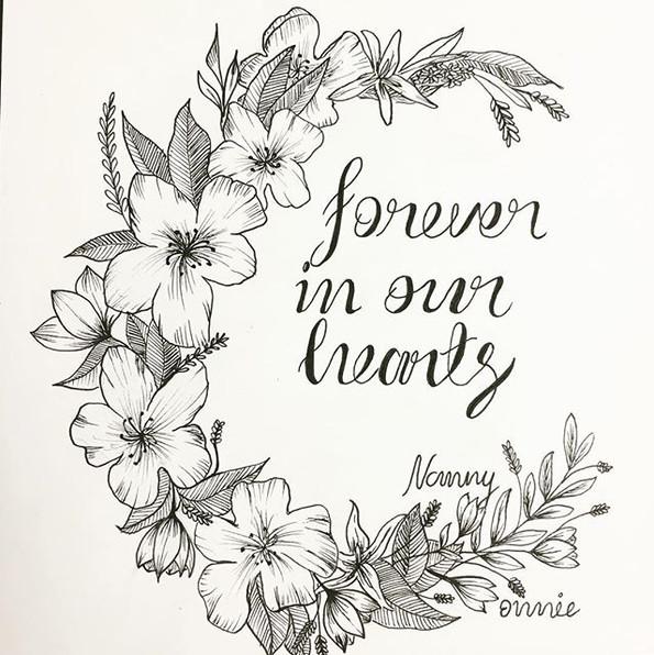 Floral illustration tribute