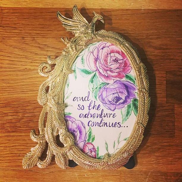 floral gift frame