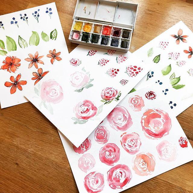 Watercolour workshop material