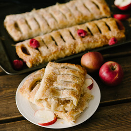 Apple and Raspberry Strudel