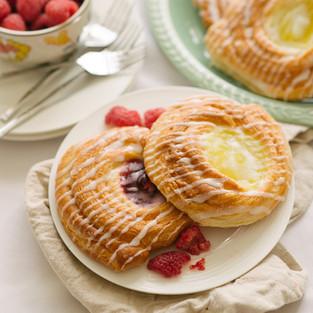 Lemon and Raspberry Danish