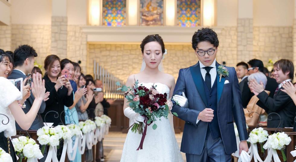 Wedding Bouquet_Dark Red