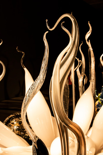 Chihuly glass blowing