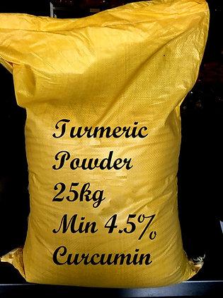 TURMERIC POWDER 25kg HUMAN GRADE A 4.5+% CURCUMIN CONTENT