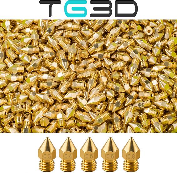Brass Nozzle Pack - 5 Nozzles