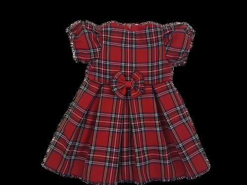 Girls Red Royal Stewart Tartan Dress