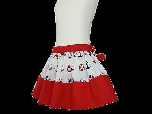 Nautical skirt for Girls and Baby Girls
