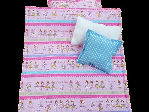 Doll bedding set - Pillow - Blanket - Mattress