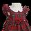 Thumbnail: Baby Girls Red Royal Stewart Tartan Dress