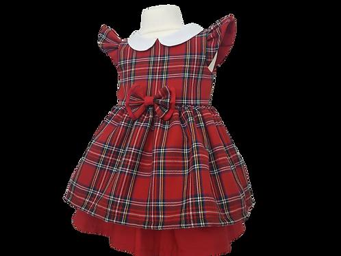 Baby Girls Red Royal Stewart Tartan Dress