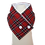 Thumbnail: Adult Tartan Neck Wrap Scarf with Buttons