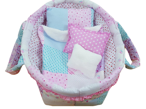 Doll cot - Doll bedding set - Doll carry cot - Pillow - Blanket - Carry cot - Do