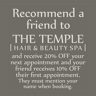 The Temple Hair and Beauty Spa Offer 1.j