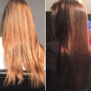Emily completes Aveda Colour Solutionseducation this week