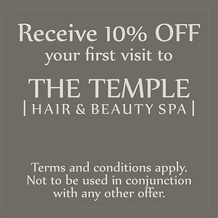 The Temple Hair and Beauty Spa Offer 2.j