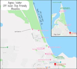 Agnes Water 'Off - Leash' Dog Beach Beach Map