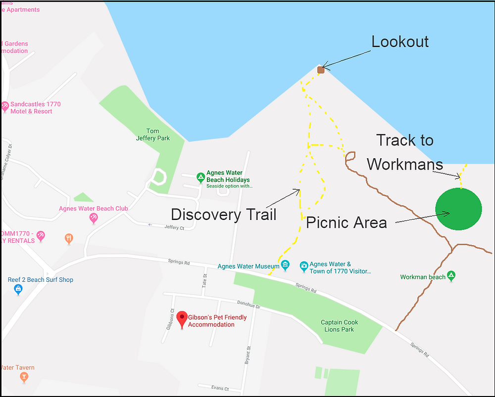 Discovery Trail to Workmans Beach Map