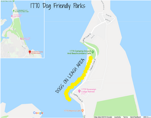 1770 dog friendly parks and beaches map