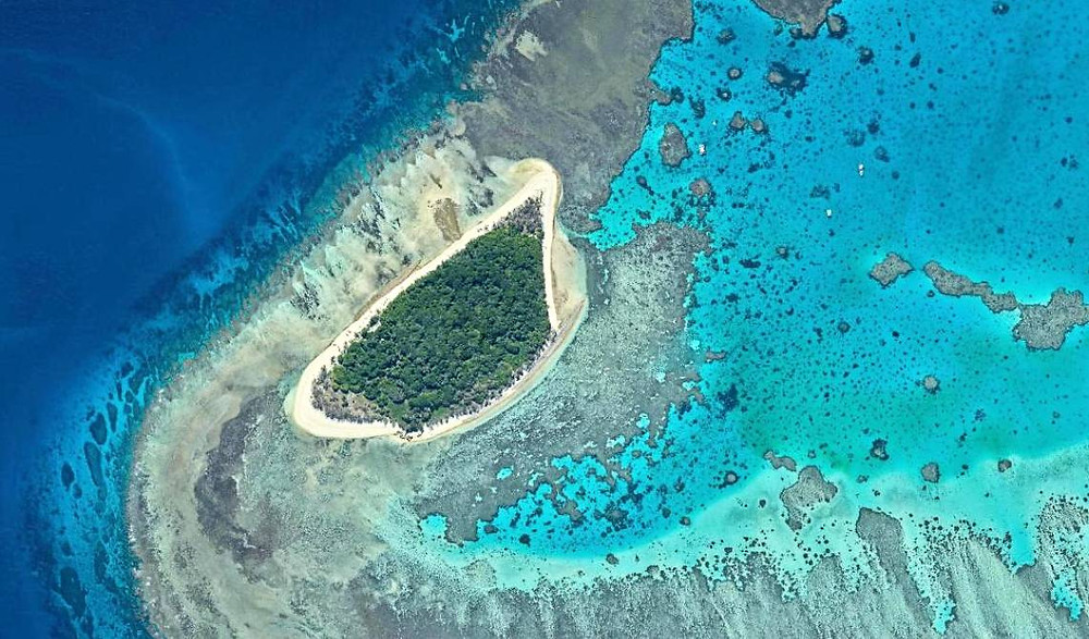 Lady Musgrave island aerial view southern great barrier reef