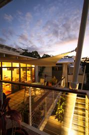 Townhouse 3 - Master bedroom deck overlooking primary living deck