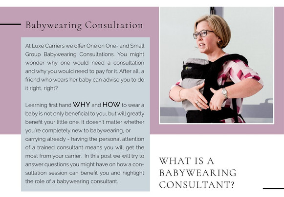 We unpack a Babywearing Consultation