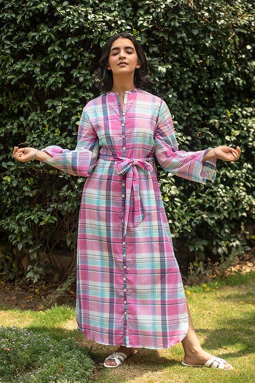 Pink Picnic Shirt Dress
