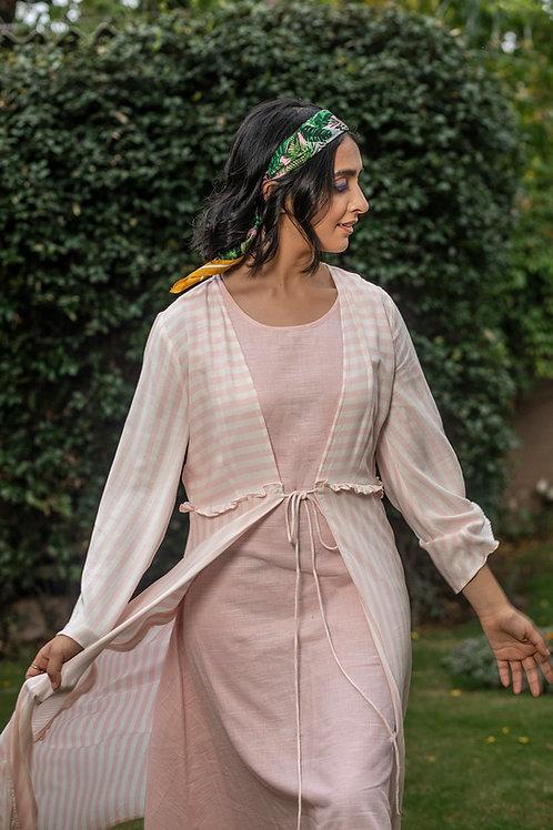 Pink Mat Jacket & Slip Dress