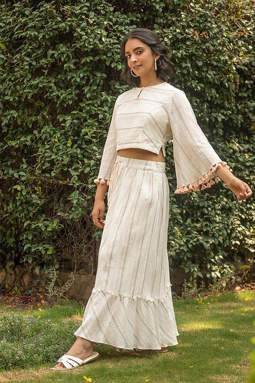 Crinkle Crop Top & Peasant Skirt