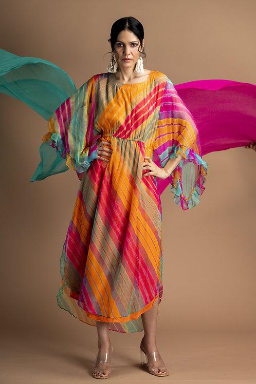 Rangara Kaftan Leheriya Dress