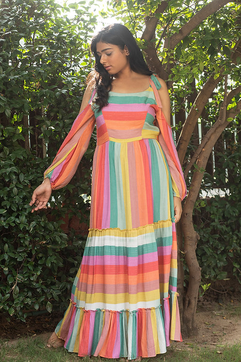 Colour Drip Maxi Dress