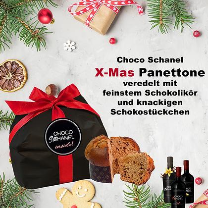 Choco Schanel inside:  Panettone mit Schokostückchen