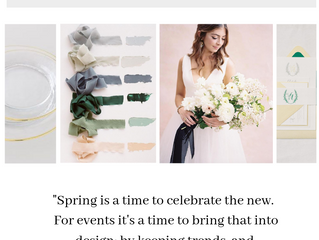 Spring Inspiration for Your Wedding