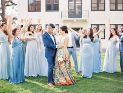 blue bridal party dress
