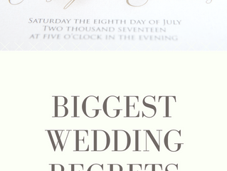 Biggest Wedding Regrets