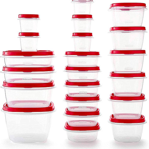 Rubbermaid Easy Find Vented Lids Food Storage Containers