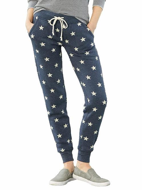 WOMENS STARS FLEECE PANTS