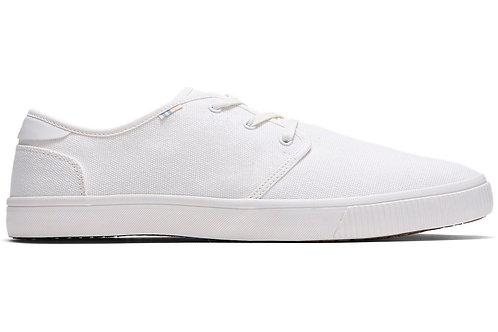 White Canvas Men's Carlo Sneakers Topanga Collection