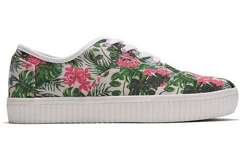 Multi Floral Print Canvas Women's Cordones Indio Sneakers