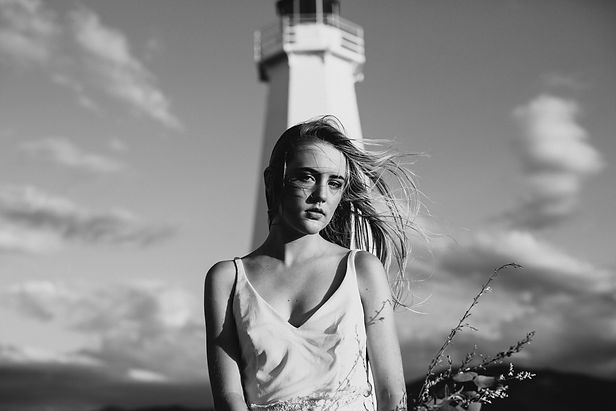 Bride infront of Lighthouse