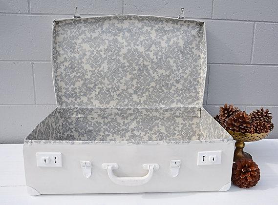 Large White Suitcase