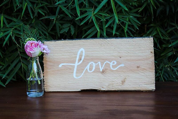 Love -Rustic Wooden Sign