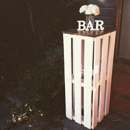 Rustic Bar Leaners