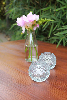 Luxe Glass Tealight Holders